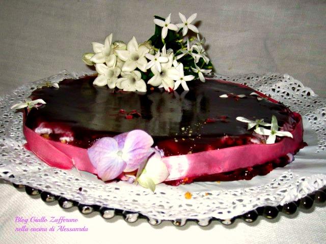 Cheesecake ai mirtilli selvatici con miele di Sicilia al gelsomino di Alessandra