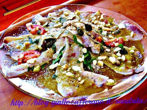Carpaccio di pesce spada marinato| Antipasti pesce