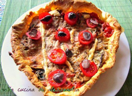 Torta salata vegetariana| provola e Maiorchino