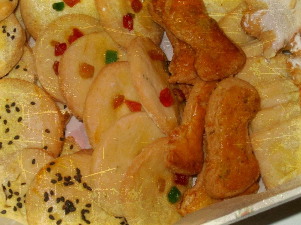 biscotti di miele e mandorle e frutta candita  / ricetta siciliana / nelle cucina di alessandra