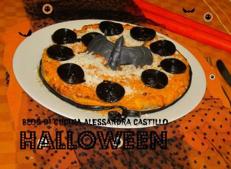 Cheesecake salata ricetta |con la  zucca decorata per  Halloween | Il fantastico mondo di Alessandra