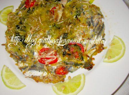 Tortino di alici e patate , ricetta piatto unico di pesce