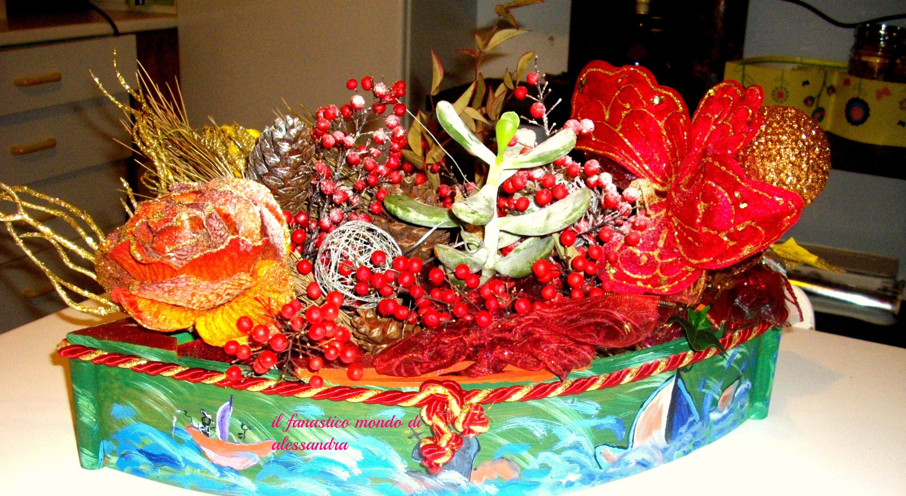 Centrotavola fai da te natalizio il fantastico mondo di alessandra - Centro tavolo fai da te ...