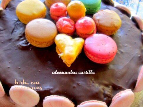 Macarons torta | Ricette giallo zafferano | Il fantastico mondo di Alessandra