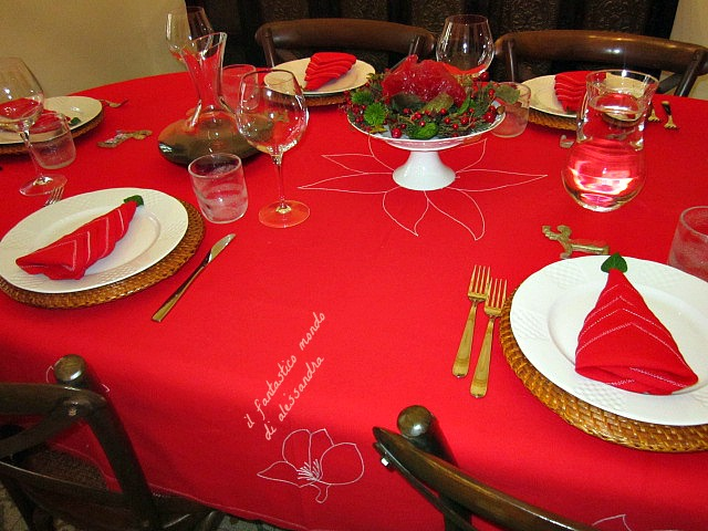La tavola di natale come decorarla con stile raffinatezza - Decorazioni per la tavola di natale ...