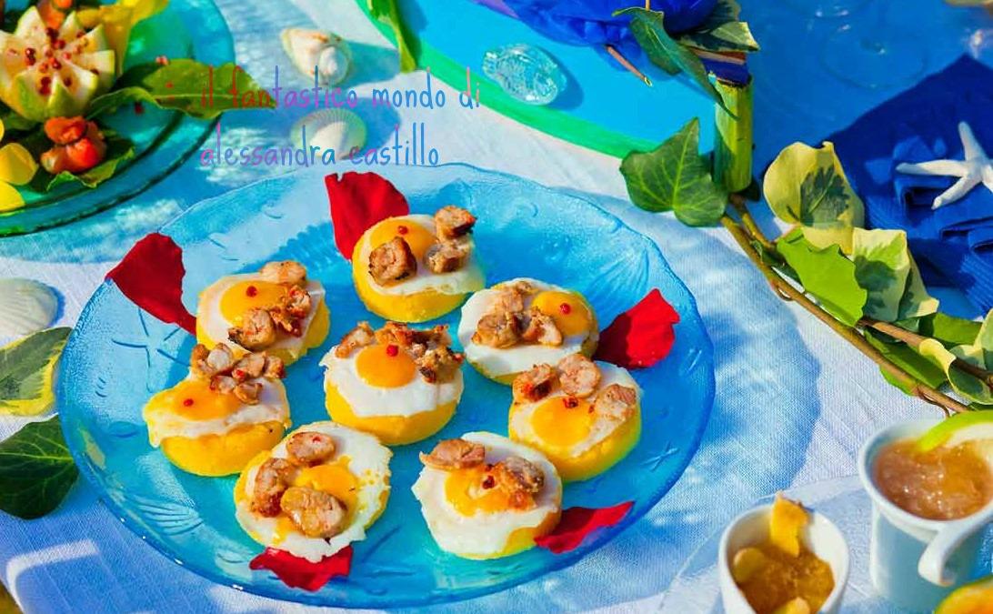 Il fantastico mondo di alessandra / polenta con ovette di quaglia
