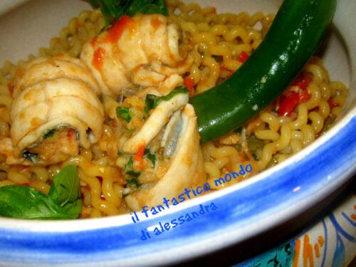 Ricette con gli spaghetti – con involtini di pesce