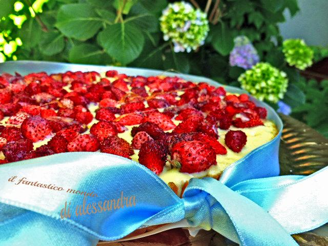 Torta di fragoline di bosco - Le ricette Il fantastico mondo di Alessandra