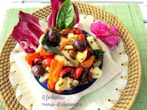 Insalata di verdure grigliate |Ricette estive| Il fantastico mondo di Alessandra