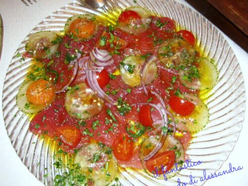 Carpaccio di tonno crudo  | ricette con agrumi |Il fantastico mondo di Alessandra