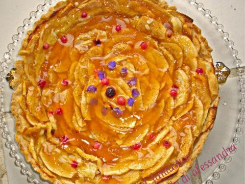 Crostata di mele ricetta | con ricotta | Il fantastico mondo di Alessandra