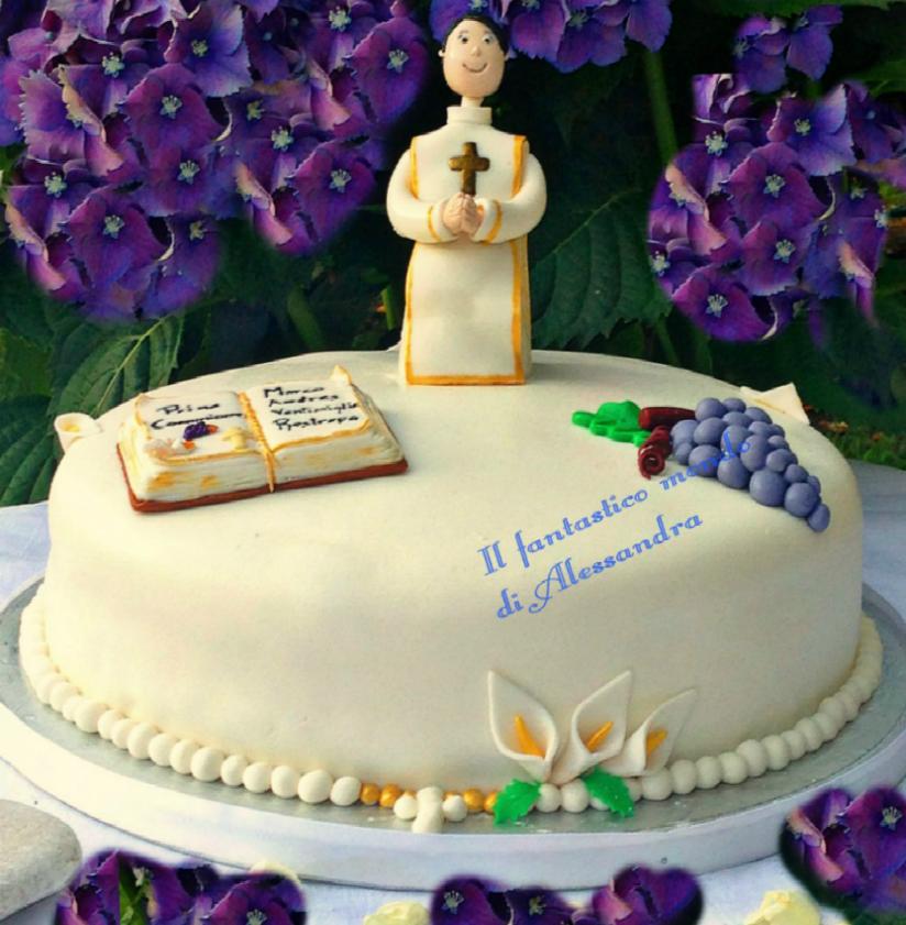 Popolare torta prima comunione bimbo |Il fantastico mondo di Alessandra LA83
