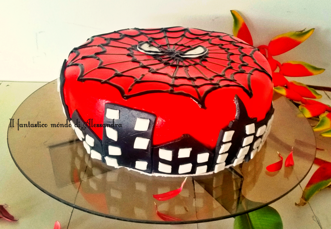 Torta Spiderman cake design - Il fantastico mondo di Alessandra