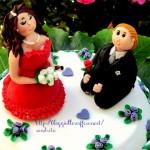 cake topper sposi personalizzati tutorial . Alessandra Castillo