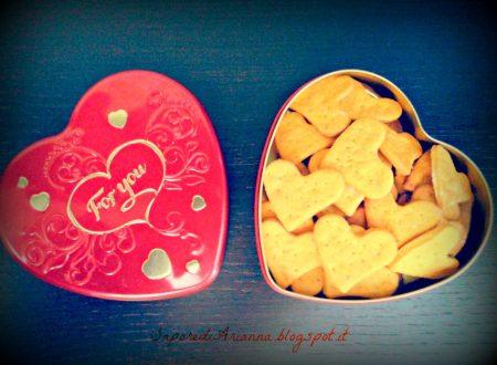 Cracker's al pomodoro…. con esubero di lievito madre….idea per S.Valentino