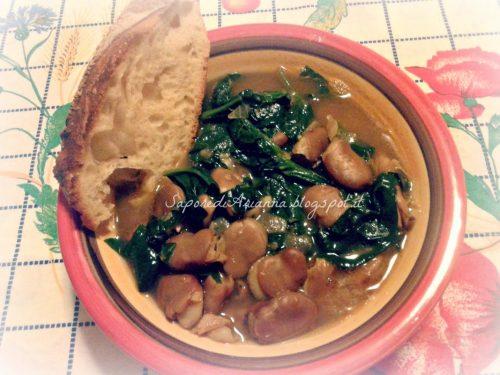 Zuppa di fave secche e spinaci….fave a cuppuneddru !