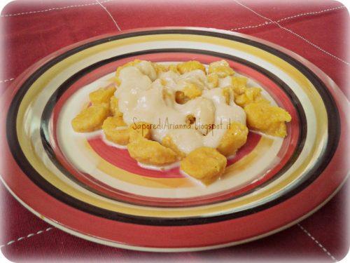 Gnocchi di zucca gialla….con fonduta di Taleggio!