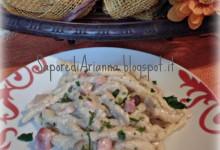 Pasta con crema di funghi porcini e mascarpone con speck…