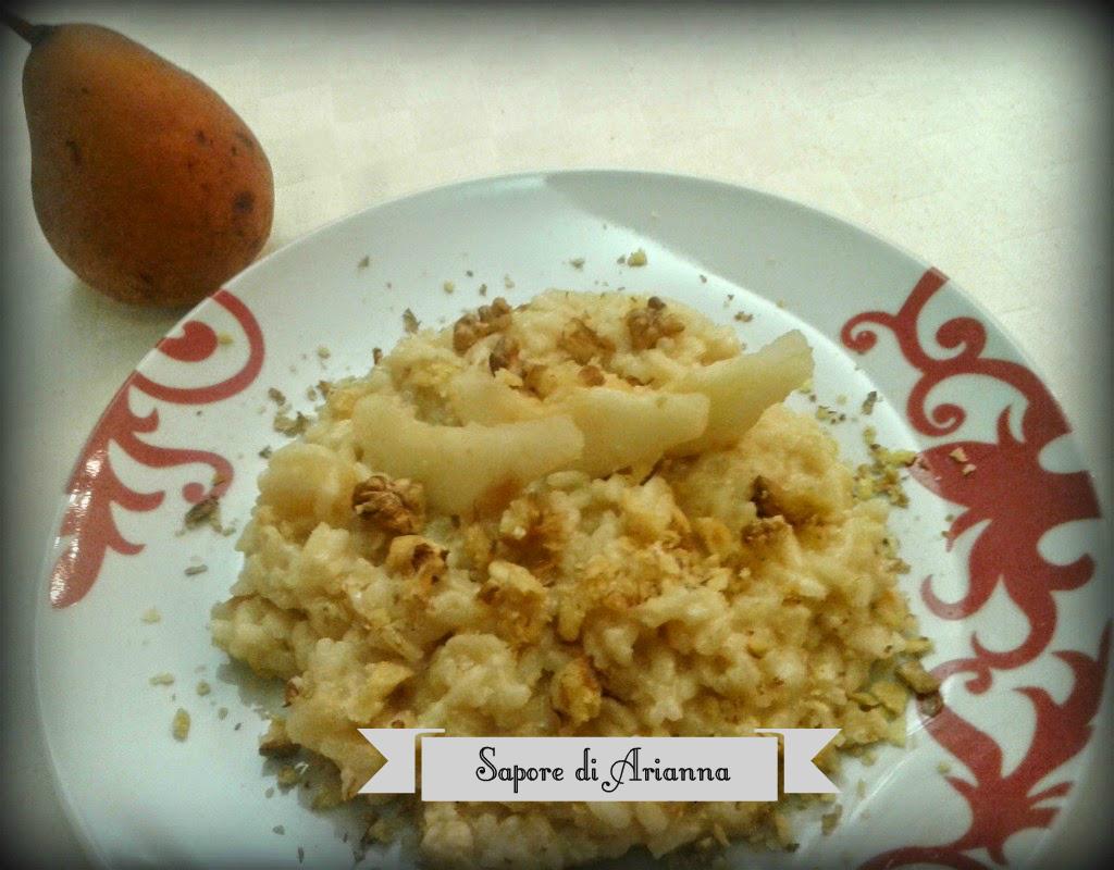 risotto con Taleggio, pere e noci