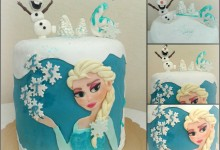 Torta Frozen in pdz, Auguri Ester!!
