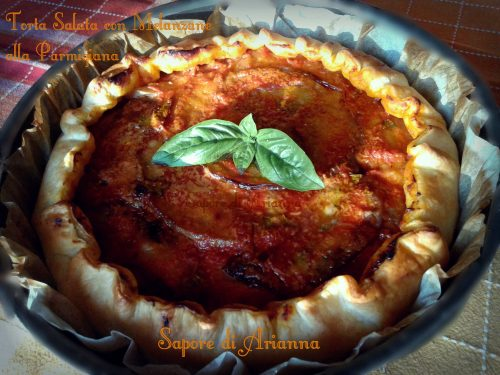 Torta Salata con Melanzane alla Parmigiana