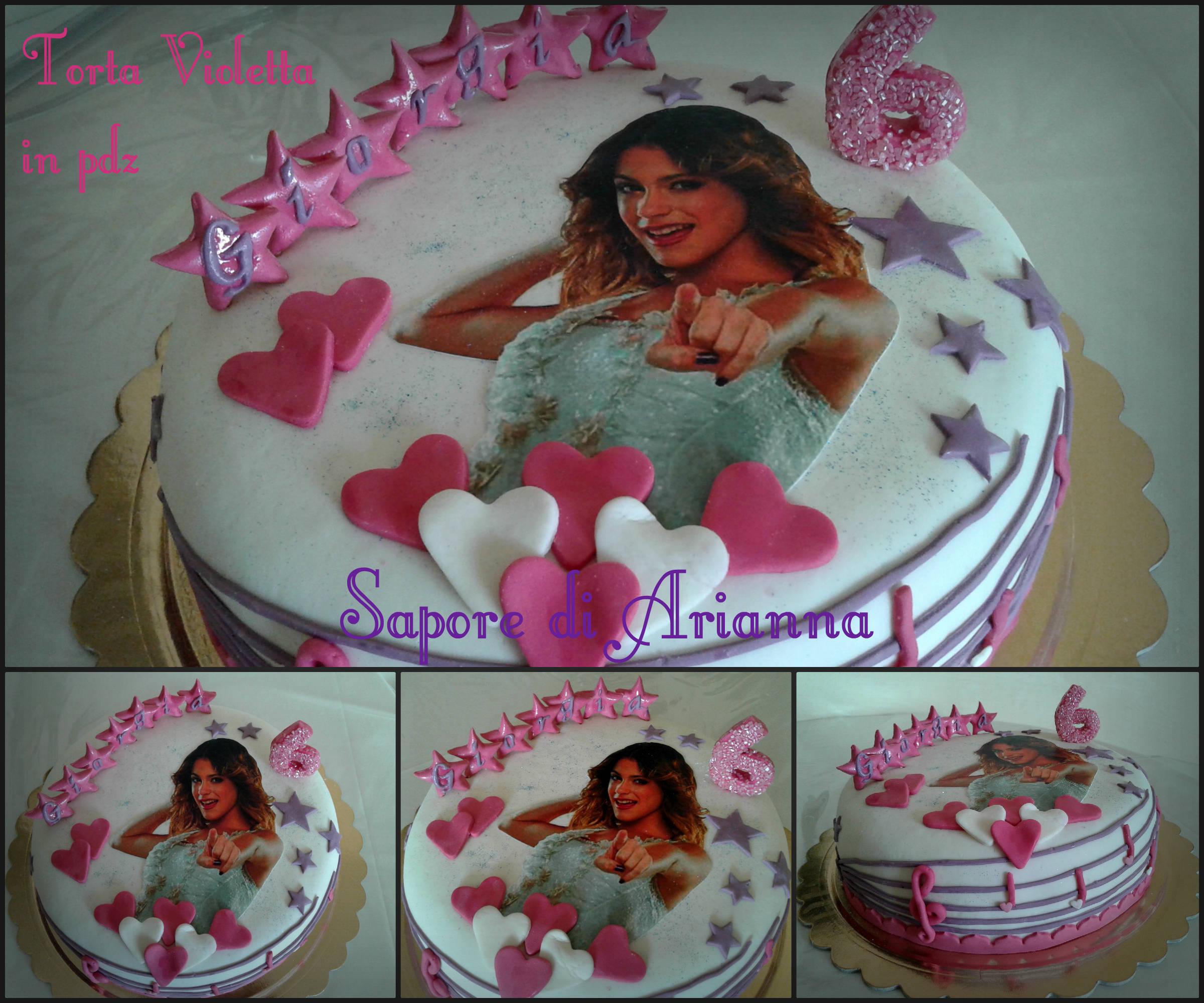 Torta Cake Design Violetta : Torta Violetta in pdz e mmf, Auguri Giorgia! Sapore di ...