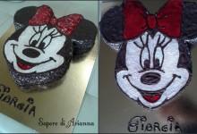 Torta Minnie, decorata con cioccolato e gel! Auguri Giorgia!