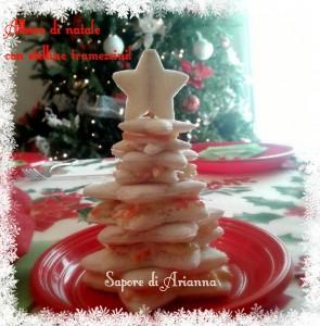 albero di Natale con stelline tramezzini