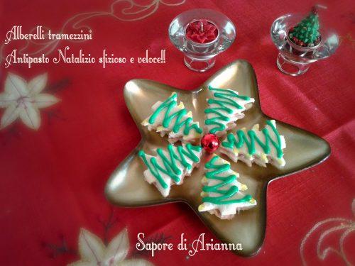 Alberelli tramezzini, antipasto natalizio veloce