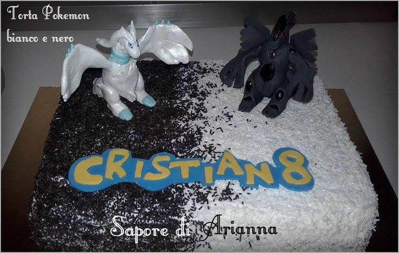 Torta Pokemon Bianco e Nero in pdz, Auguri Cristian!