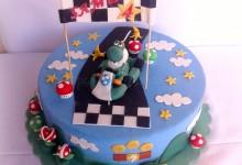 Torta Yoshi, Super Mario kart! Auguri Samuele