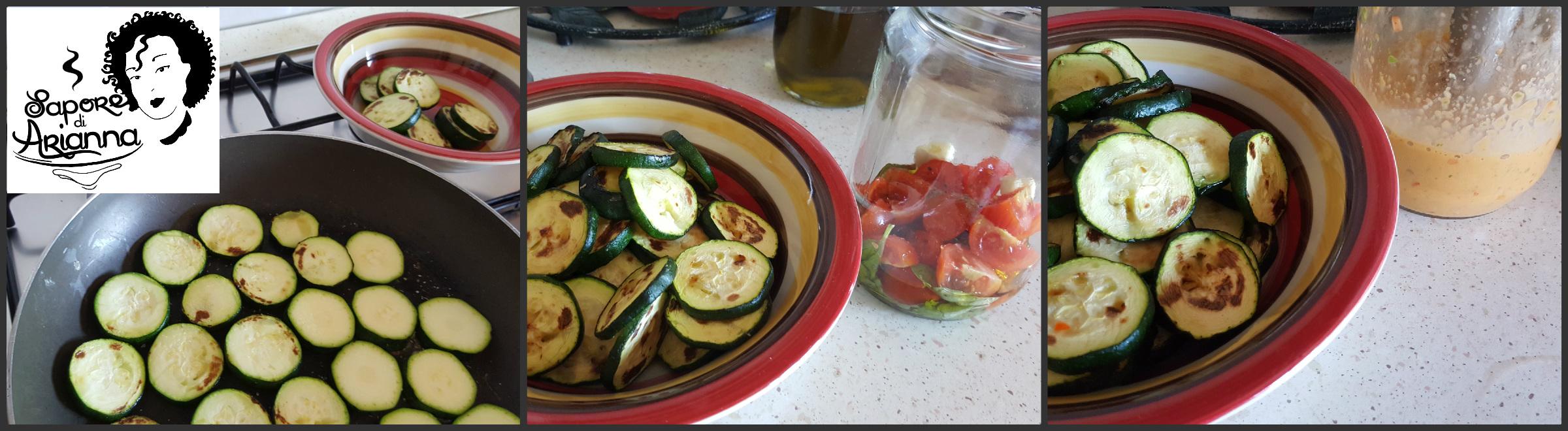 pasta con pesto di zucchine scottate