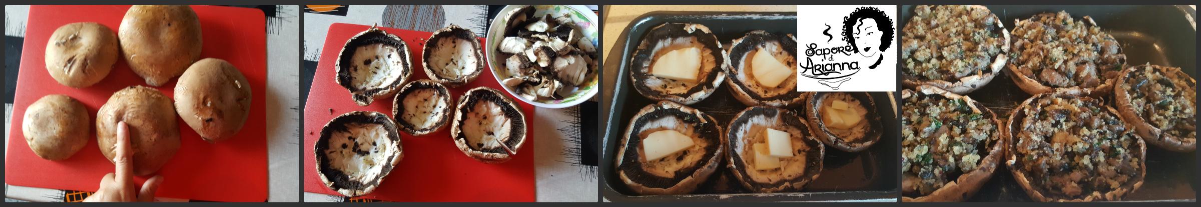 funghi portobello ripieni con salsiccia e scamorza1