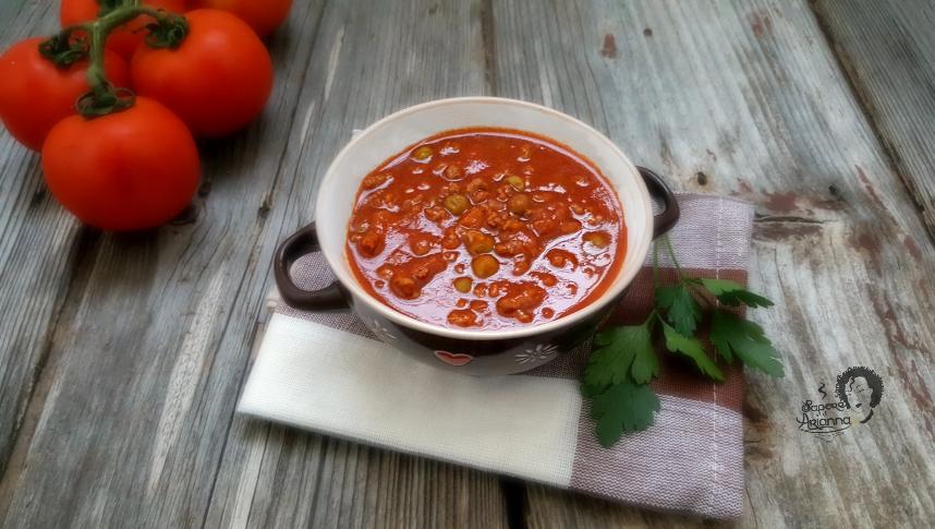 pasta al ragù di carne e piselli, ricetta siciliana