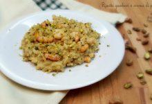 Risotto gamberi e crema di pistacchi