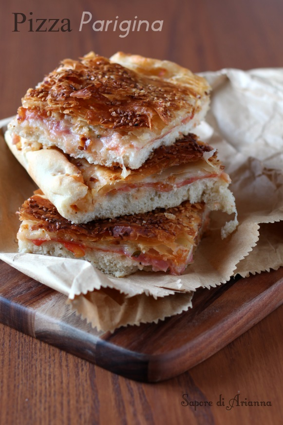 Pizza parigina ricetta con pasta sfoglia