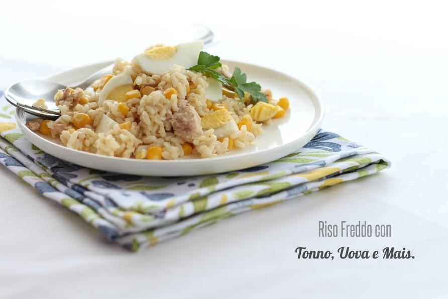Riso freddo con tonno uova sode e mais sapore di arianna for Cucinare uova sode