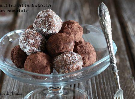 Palline alla Nutella con biscotti e nocciole