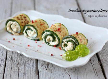 Involtini di zucchine e tonno, antipasto freddo.