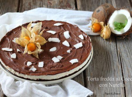 Torta fredda al cocco con Nutella
