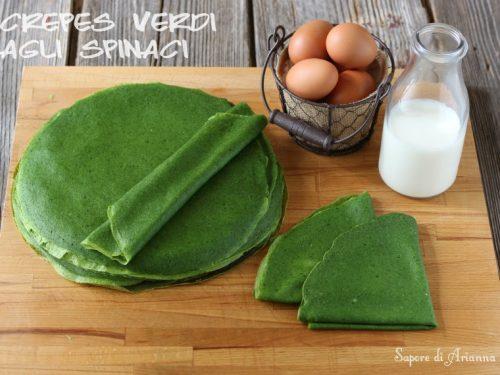Crepes verdi agli Spinaci | Ricetta base
