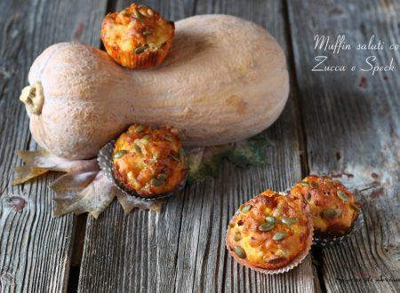Muffin salati con Zucca e Speck