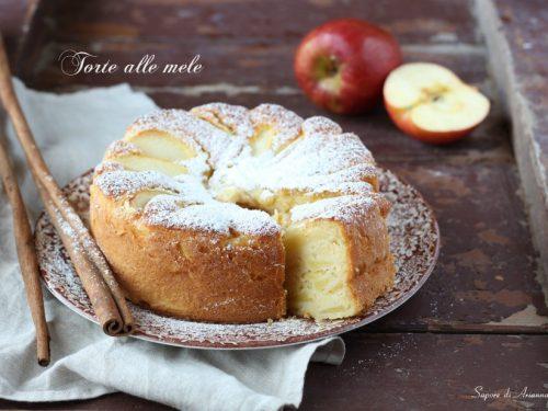 Torta alle mele senza bilancia, soffice e profumata.