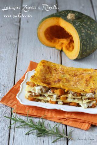 lasagne zucca e ricotta con salsiccia