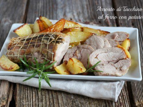 Arrosto di tacchino al forno con patate