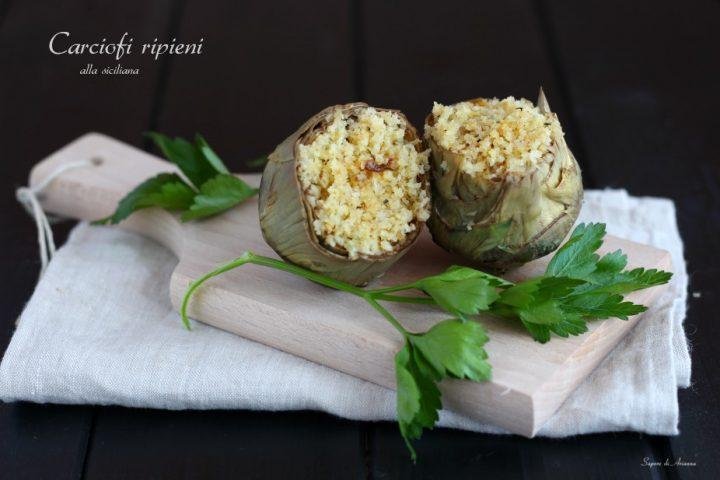 carciofi ripieni di mollica alla siciliana
