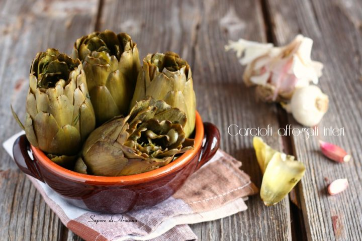 carciofi affogati interi ricetta siciliana