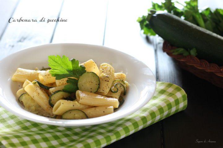 carbonara di zucchine ricetta veloce