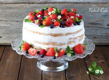 Naked Cake ricetta con crema veloce