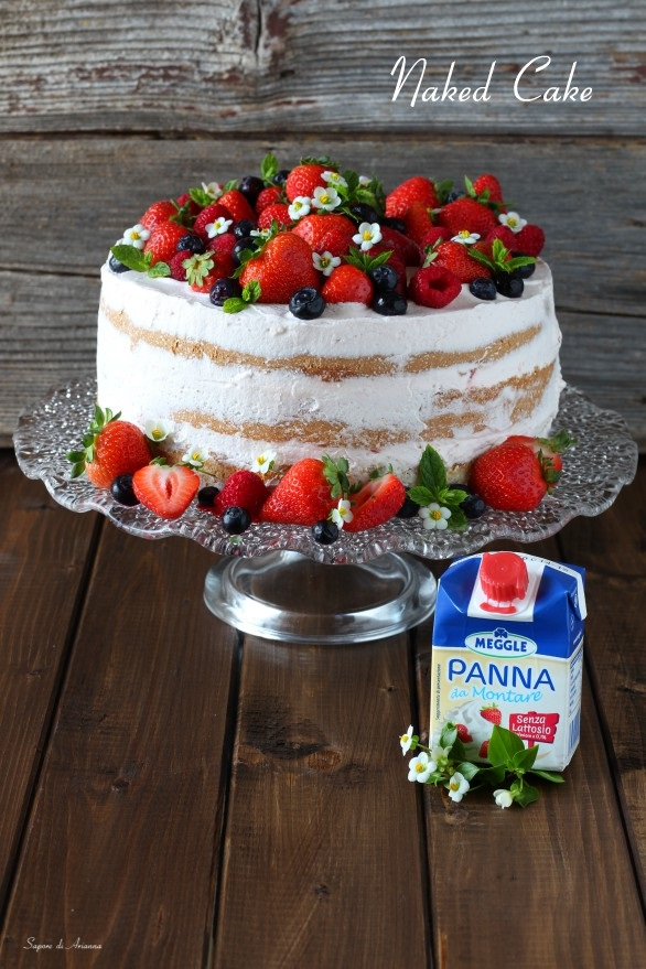Naked cake senza lattosio - ricetta veloce - Sara senza